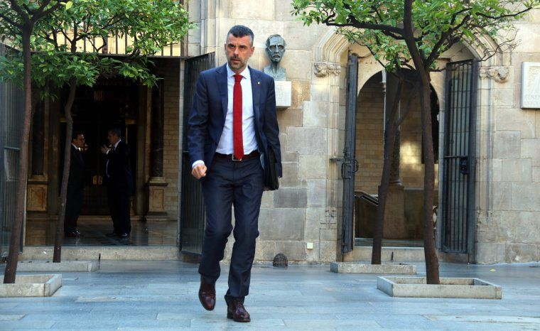 L'exconseller Santi Vila en una imatge de quan feia de conseller
