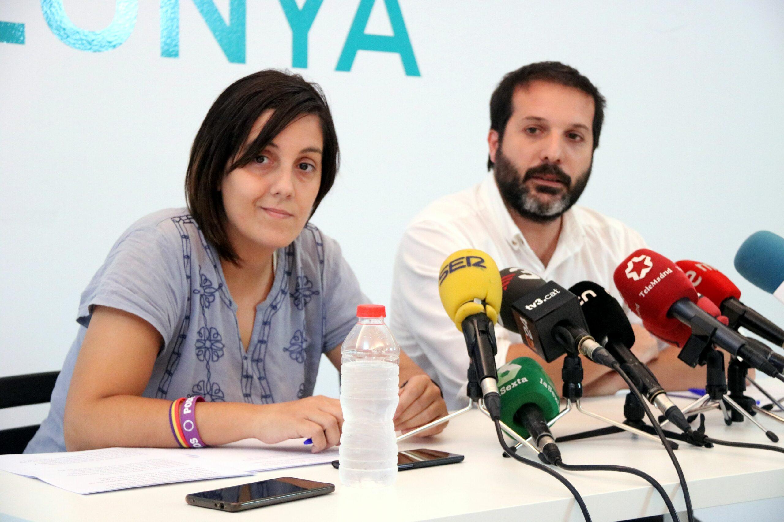 Jaume Durall i Conchi Abellán, membres de Podem Catalunya (ACN)