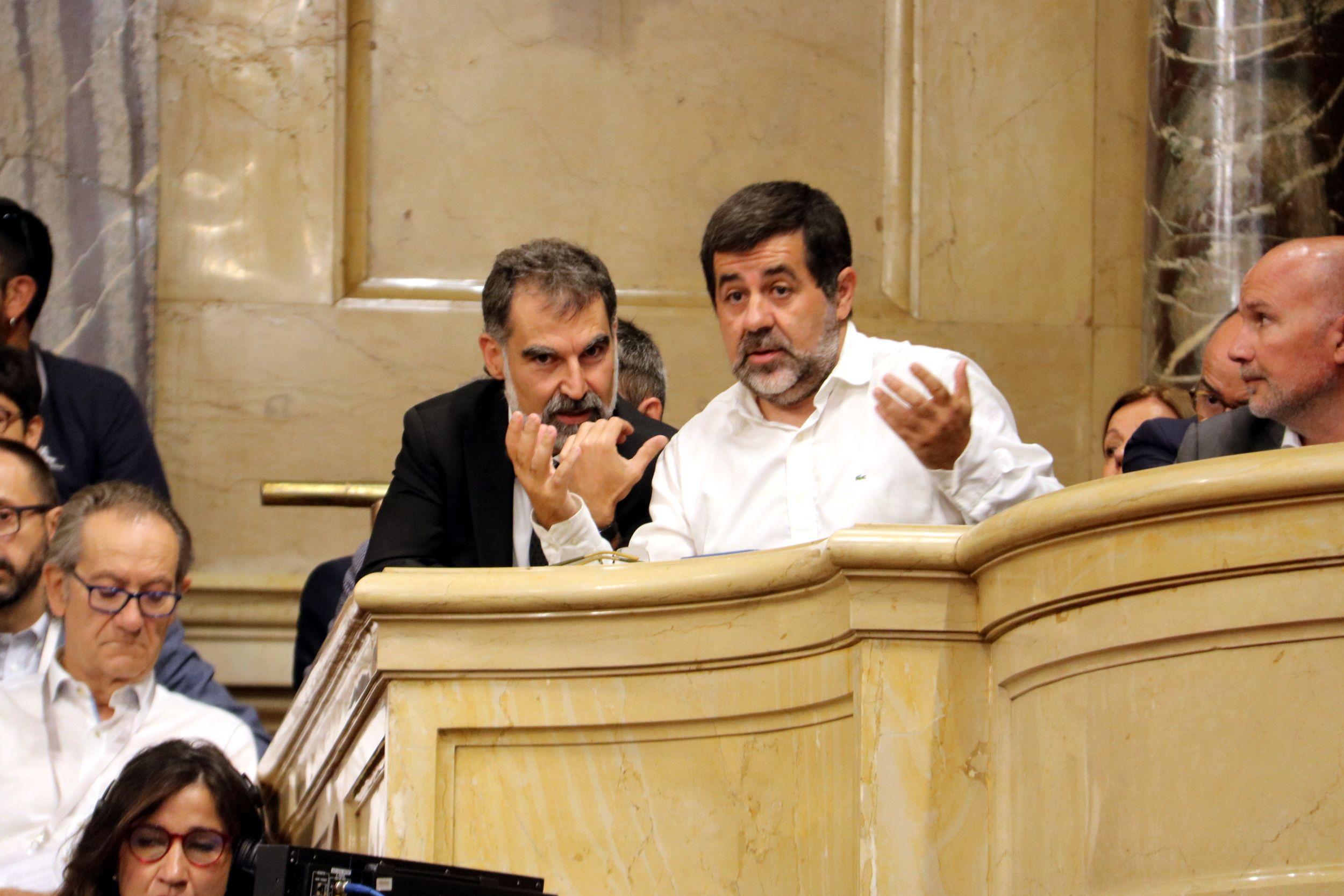 Jordi S?nchez i Jordi Cuixart