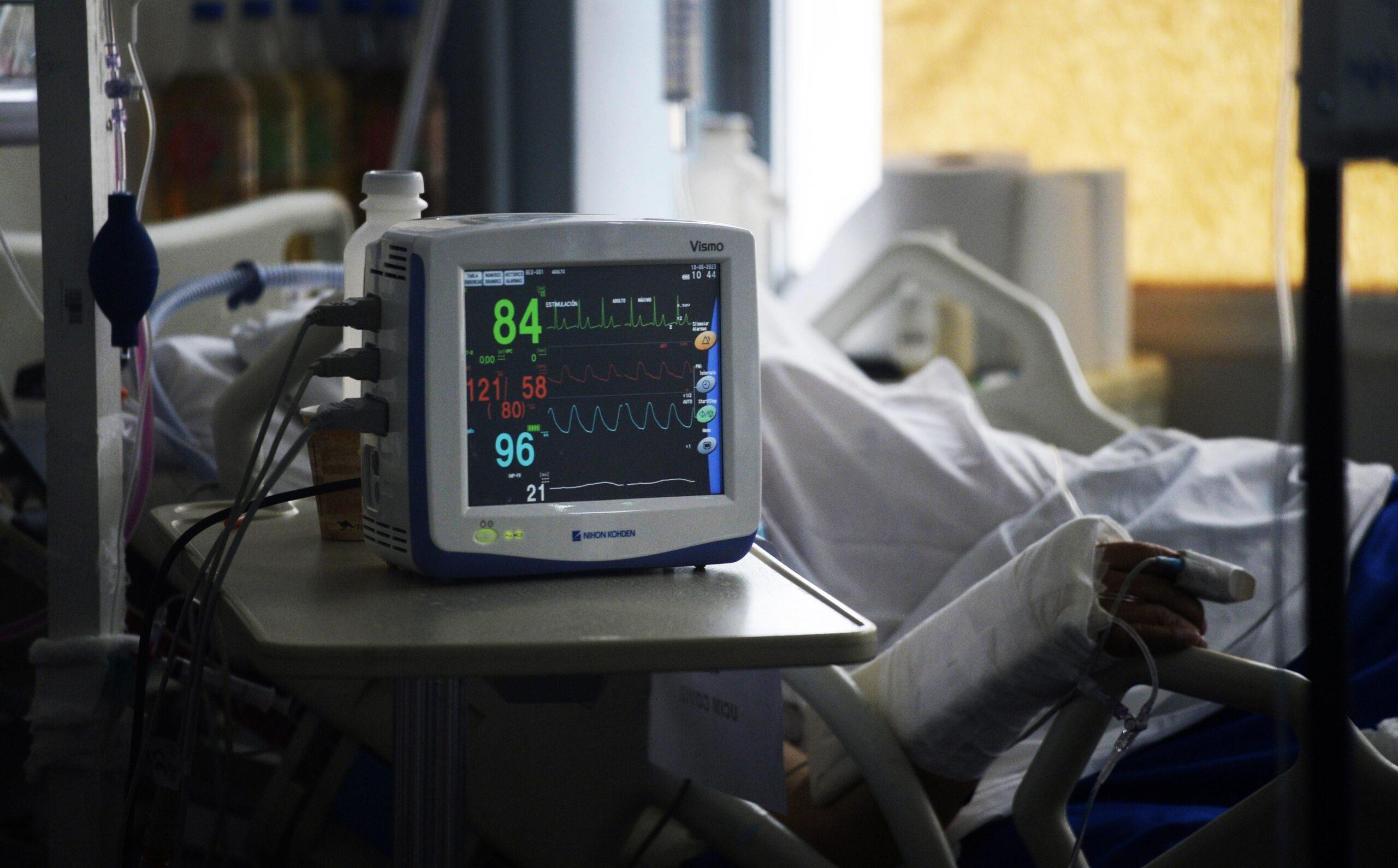 Un pacient de coronavirus hospitalitzat