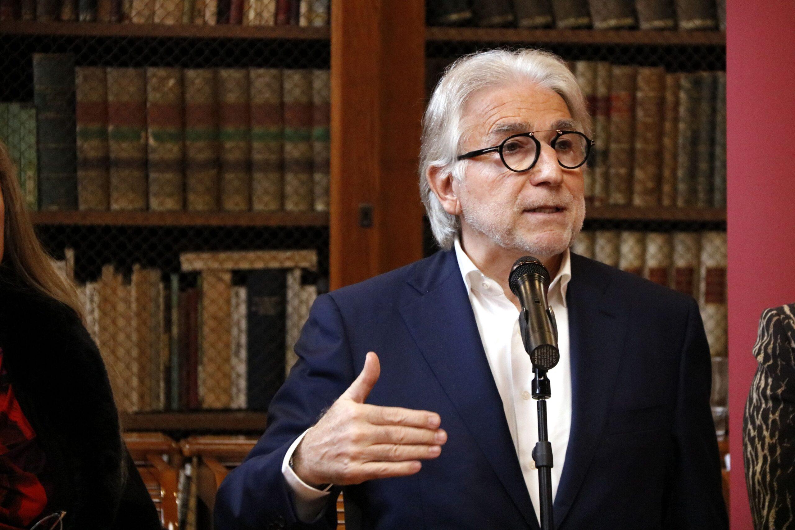 Primer pla del president de Foment del Treball, Josep Sánchez Llibre