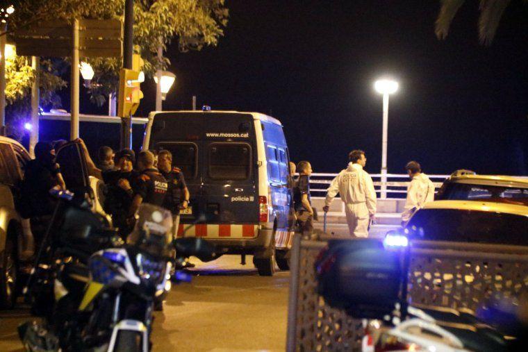 Pla tancat del desplegament policial a Cambrils