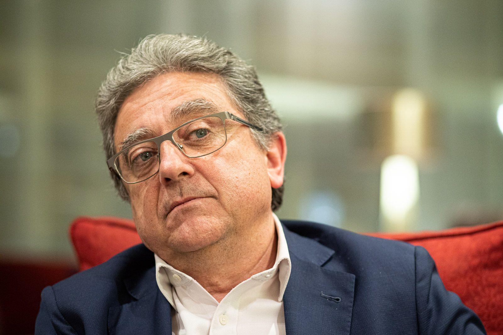 Enric Millo durant l'entrevista (J.B.)