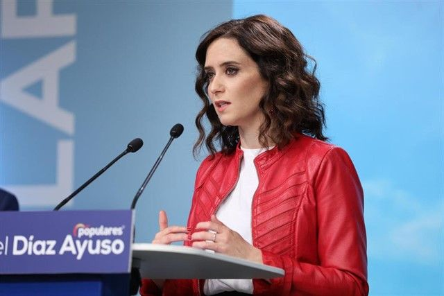 La presidenta madrilenya Isabel Díaz Ayuso (PP)
