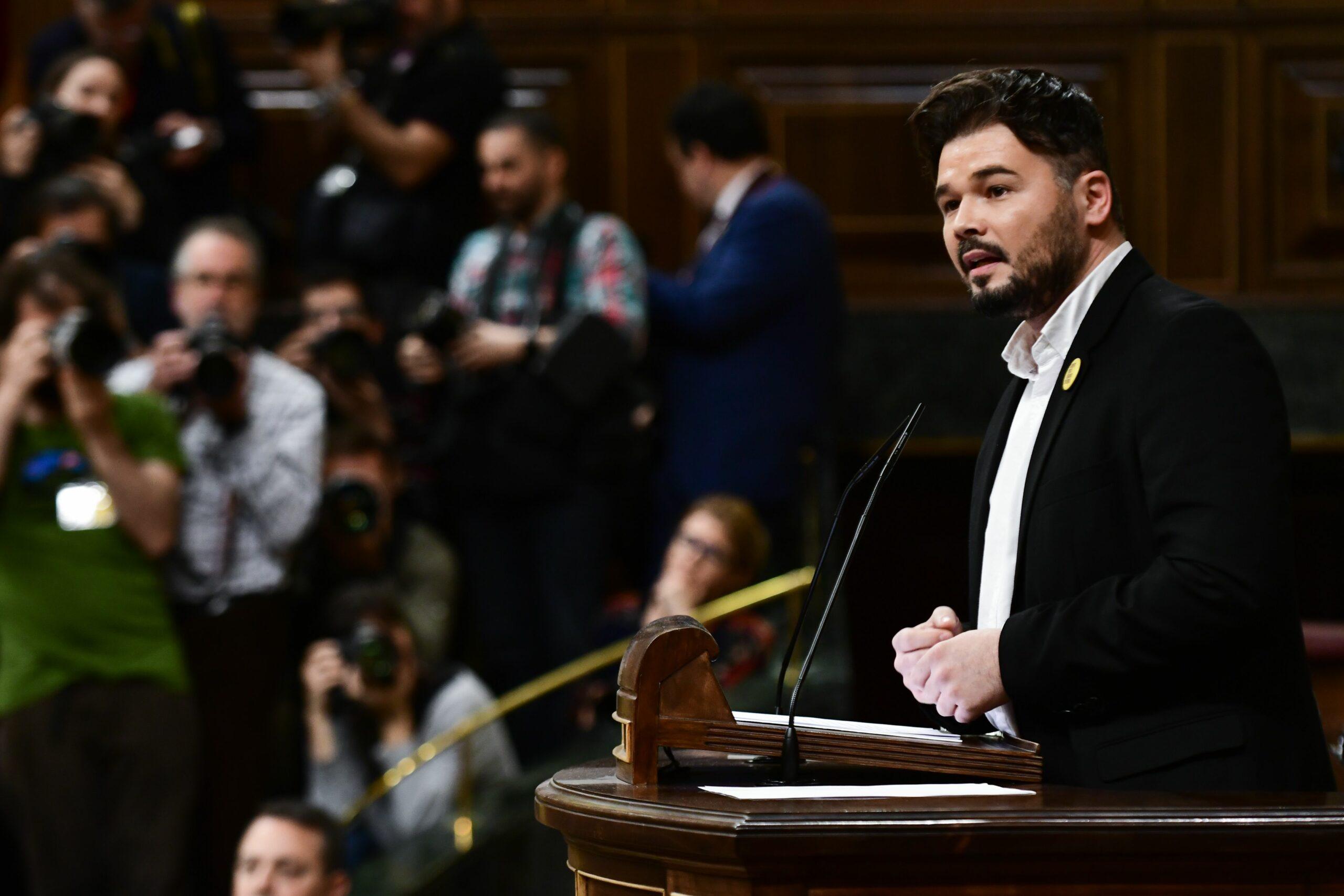 El portaveu d'ERC al Congrés, Gabriel Rufián,