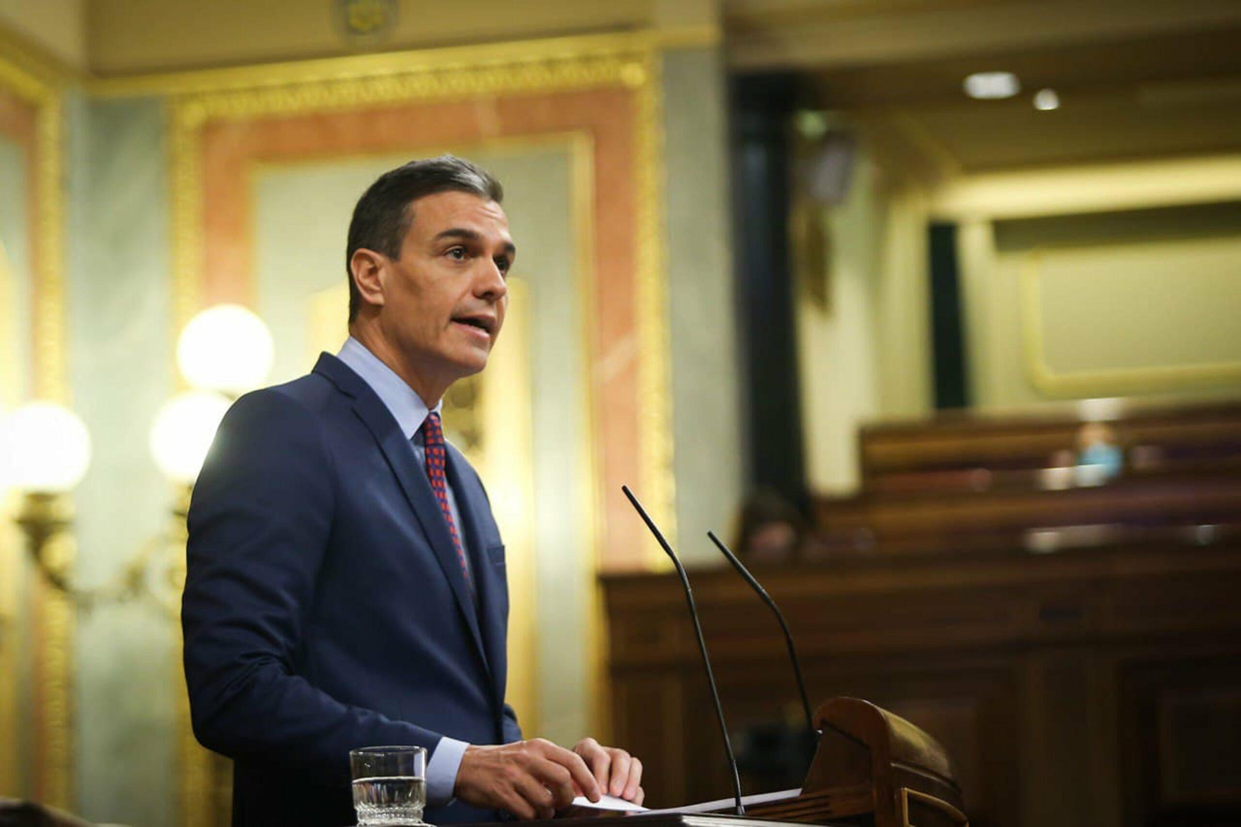 El president del govern espanyol, Pedro Sánchez, durant la compareixença al Congrés sobre l'estat d'alarma, el 16 de desembre del 2020 / ACN