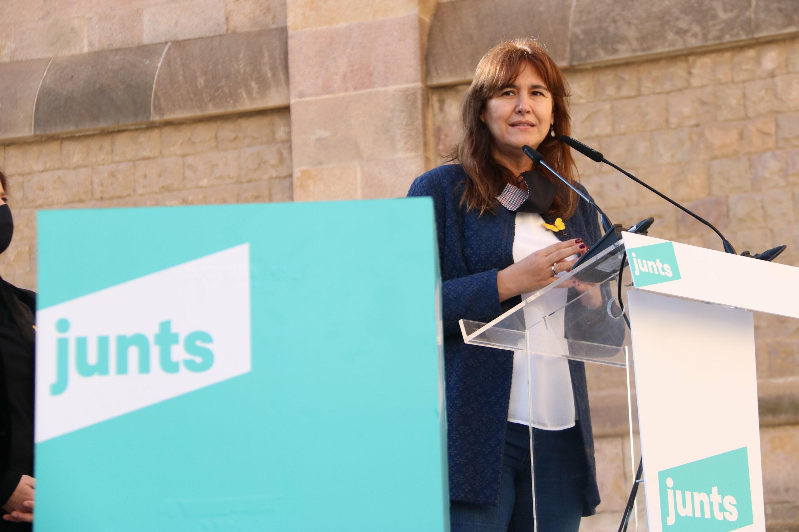 La candidata de Junts per Catalunya a la Generalitat, Laura Borràs   ACN