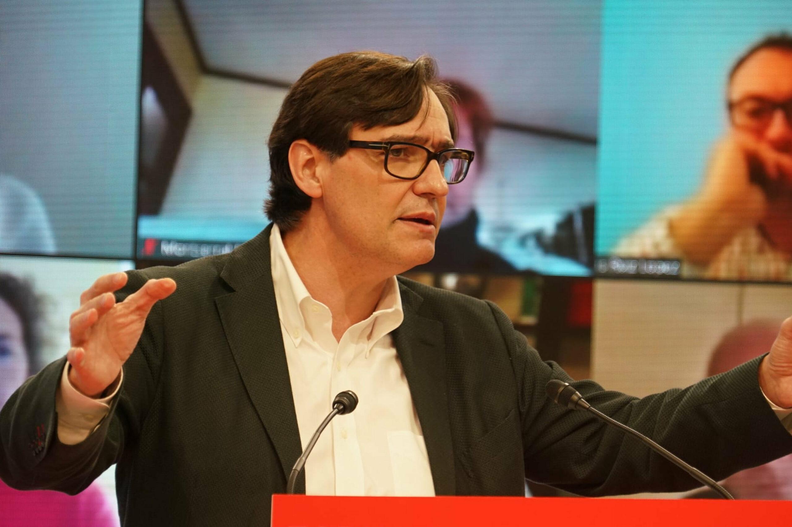 El candidat del PSC a les eleccions catalanes, Salvador Illa   ACN