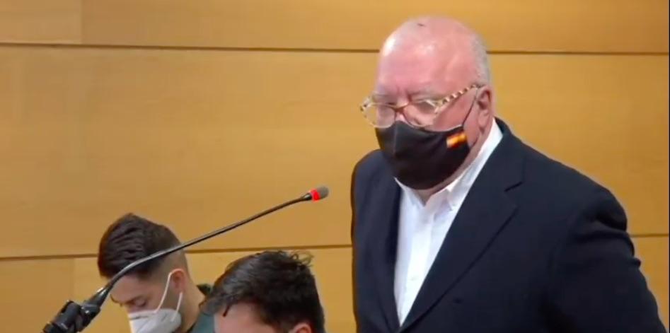 Villarejo en un moment de la seva declaració