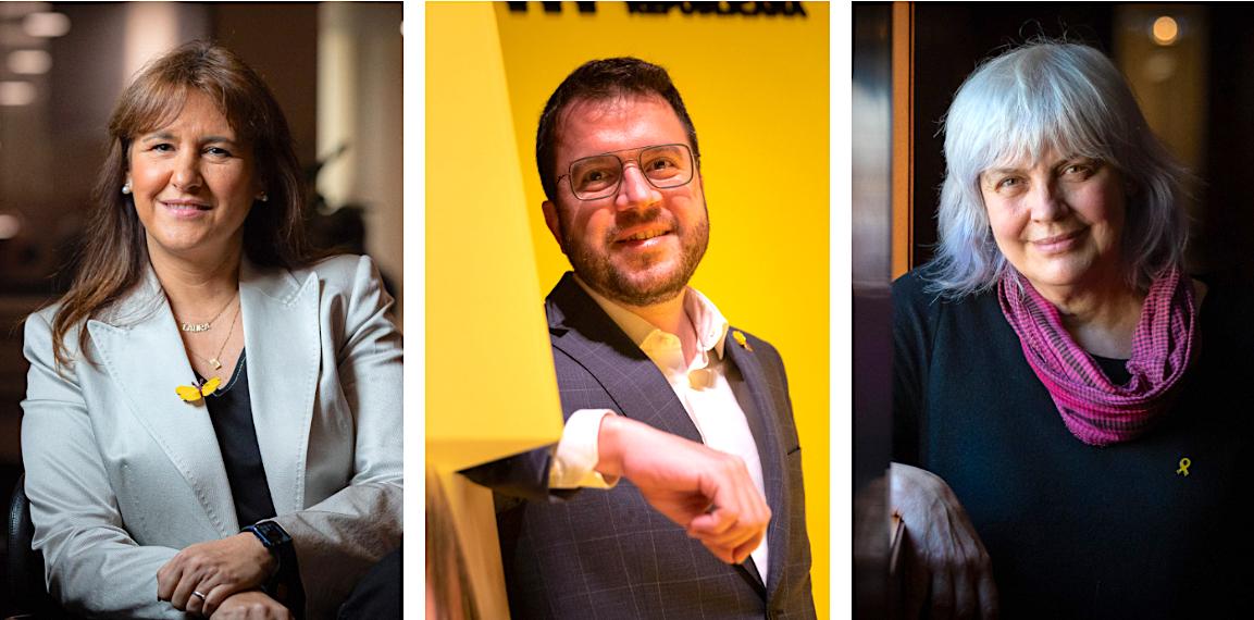 Laura Borràs, Pere Aragonès i Dolors Sabater / Fotos: Jordi  Borràs