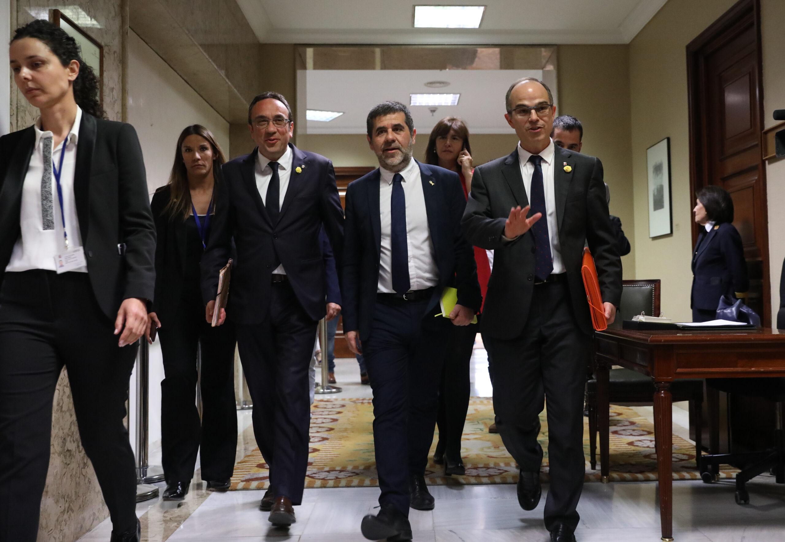Josep Rull, Jordi Sànchez i Jordi Turull