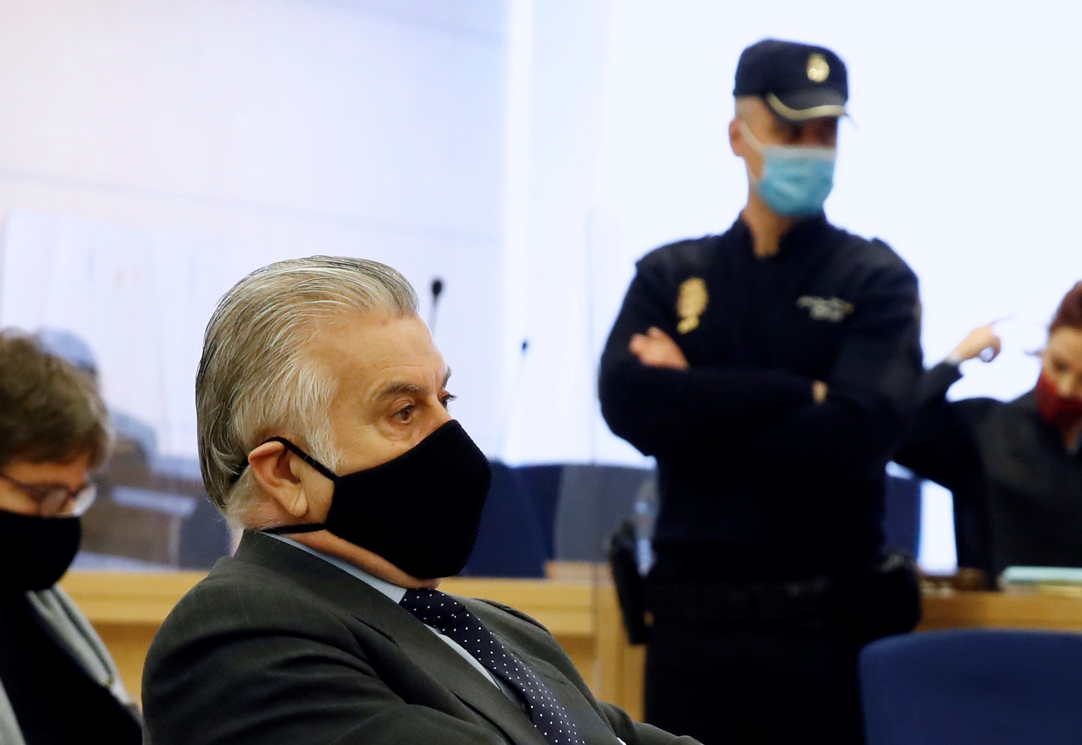 Luis Bárcenas, en un moment de la seva declaració/EP