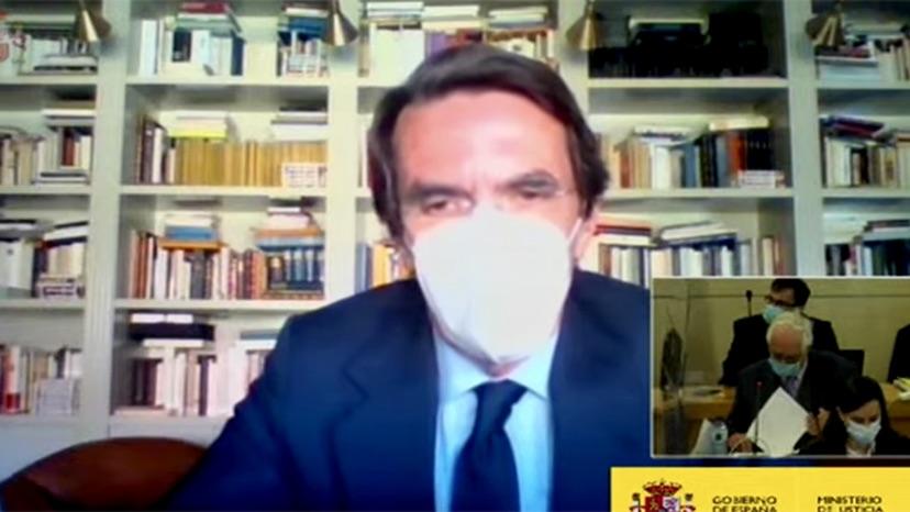 Aznar durant la seva declaració a l'Audiència Nacional/MdJ