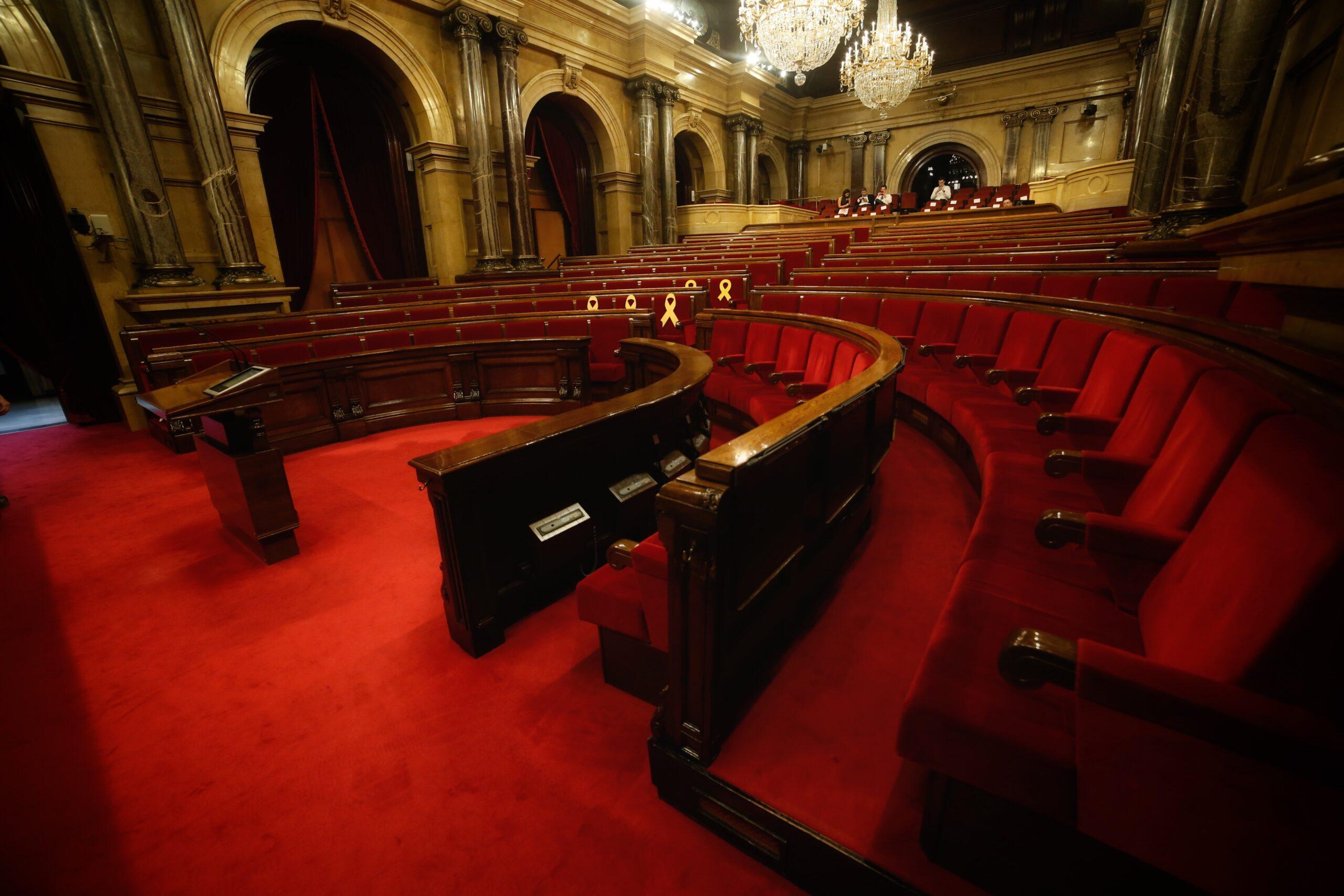 L'hemicicle del Parlament buit (ACN)