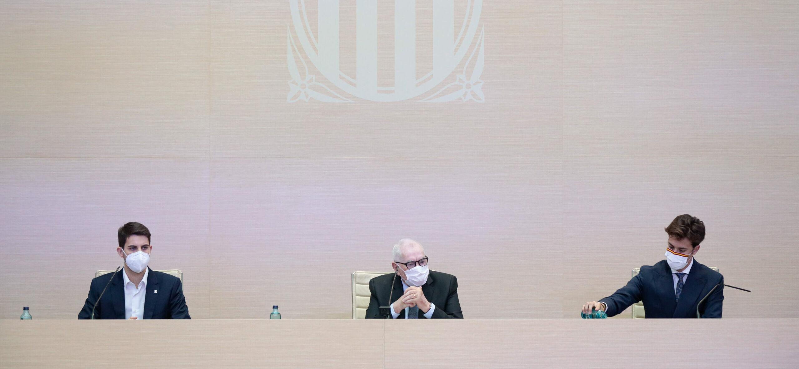 Pla general de la Mesa d'Edat, amb Ernest Maragall de president/ACN
