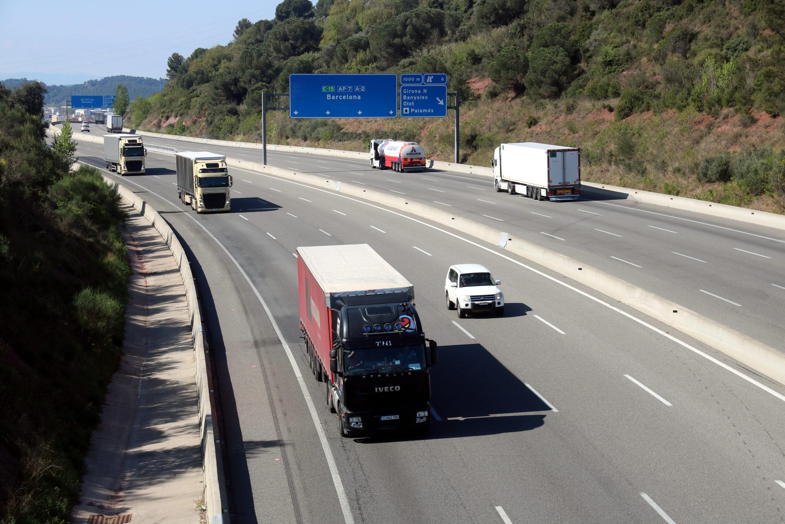 L'autopista AP-7 a l'alçada de la sortida de Girona Nord | ACN