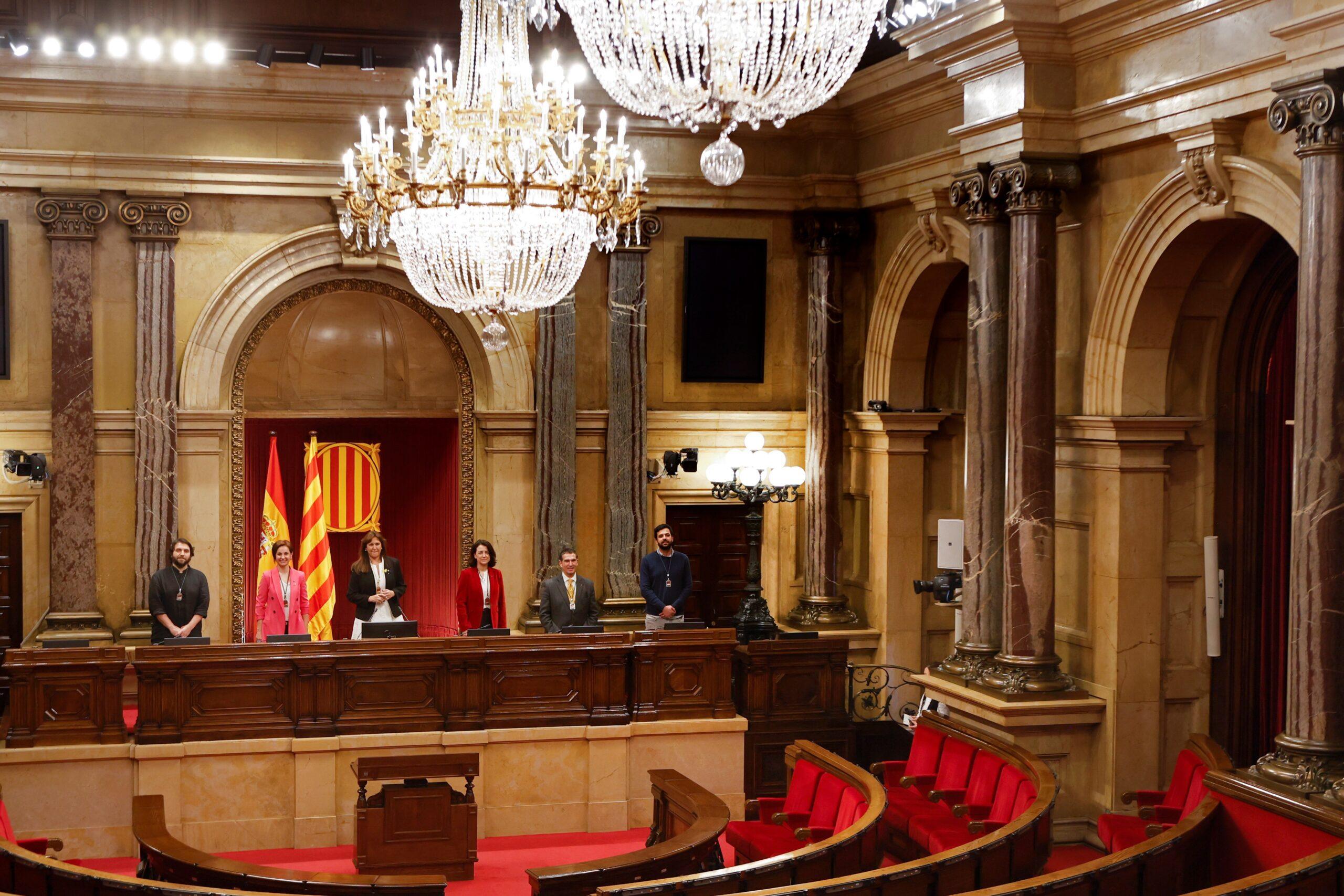 La nova Mesa del Parlament/pool Parlament Quique Garcia
