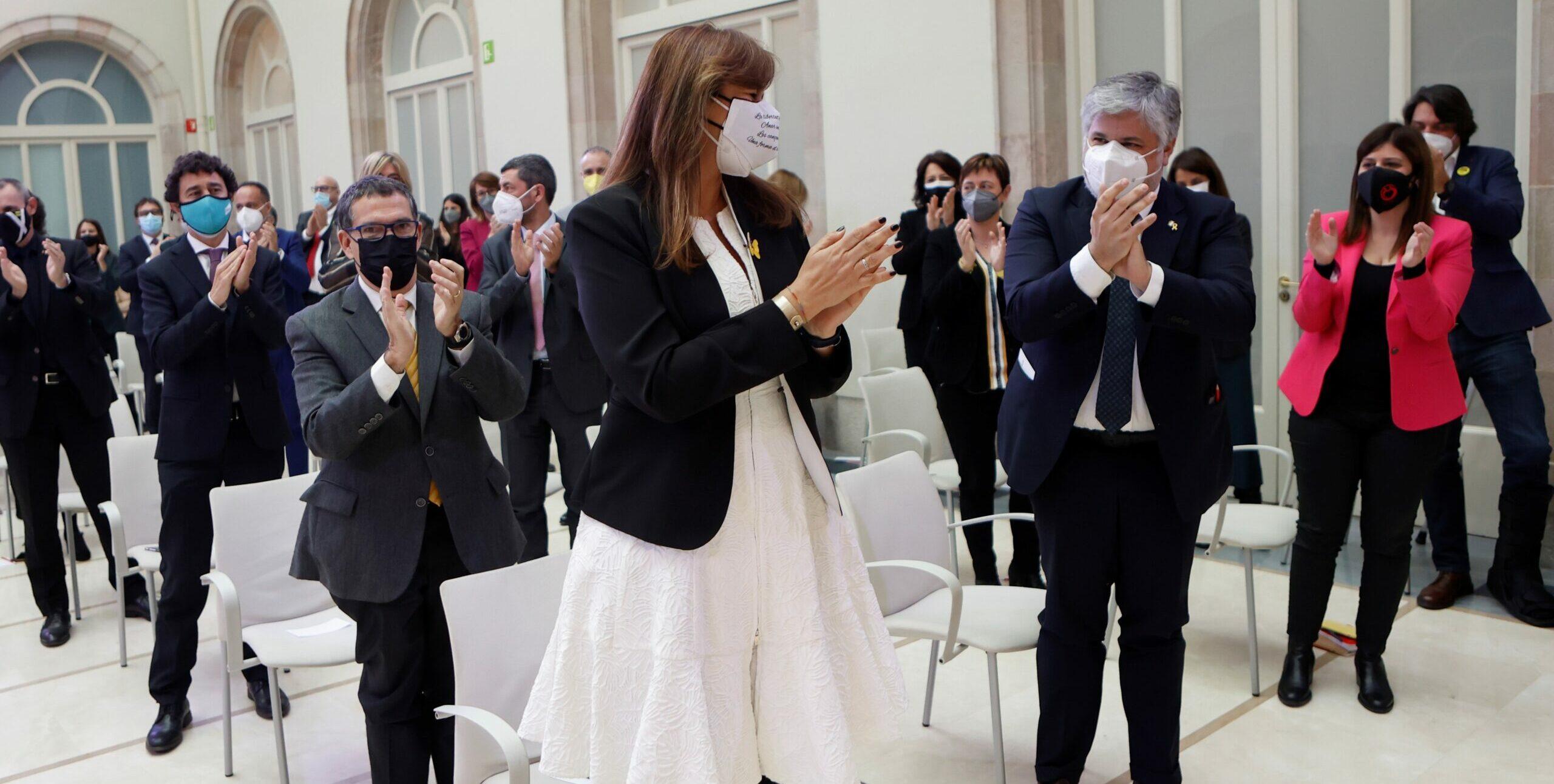 Laura Borràs, aplaudida quan va ser nomenada presidenta del Parlament EFE/ Quique García ***POOL***
