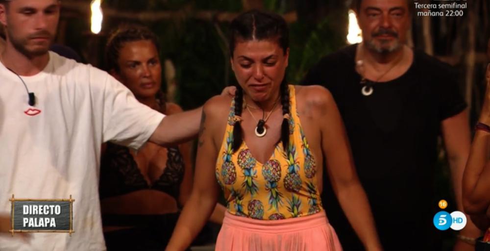 Lola plora en directe a 'Supervivientes' - Telecinco