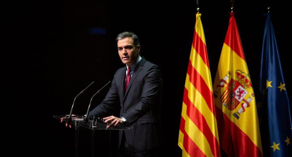 El president espanyol, Pedro Sánchez, en l'acte del Liceu, el 20 de juny del 2021 / DAVID ZORRAKINO / EUROPA PRESS