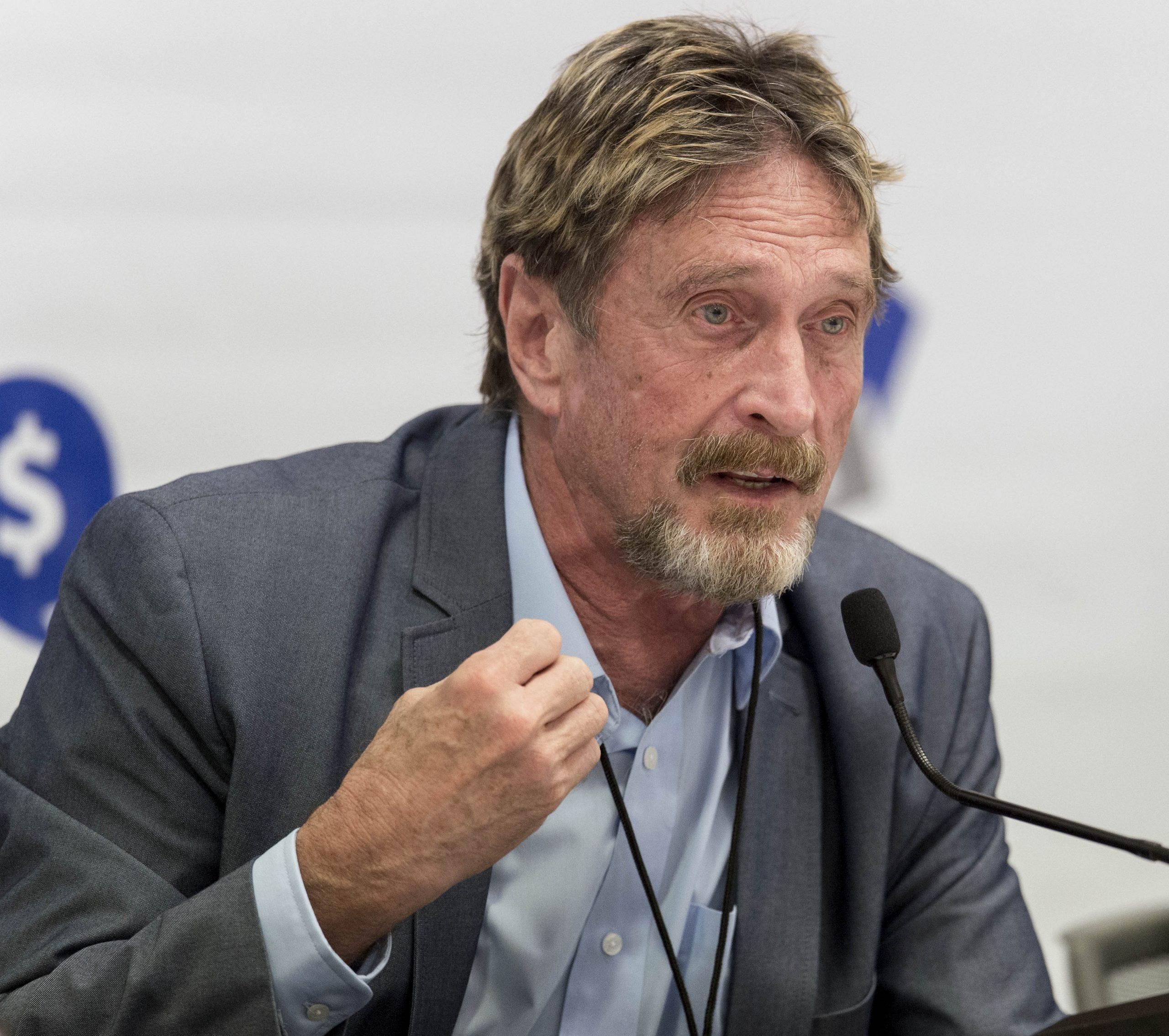 John McAfee en una imatge d'arxiu / Europa Press