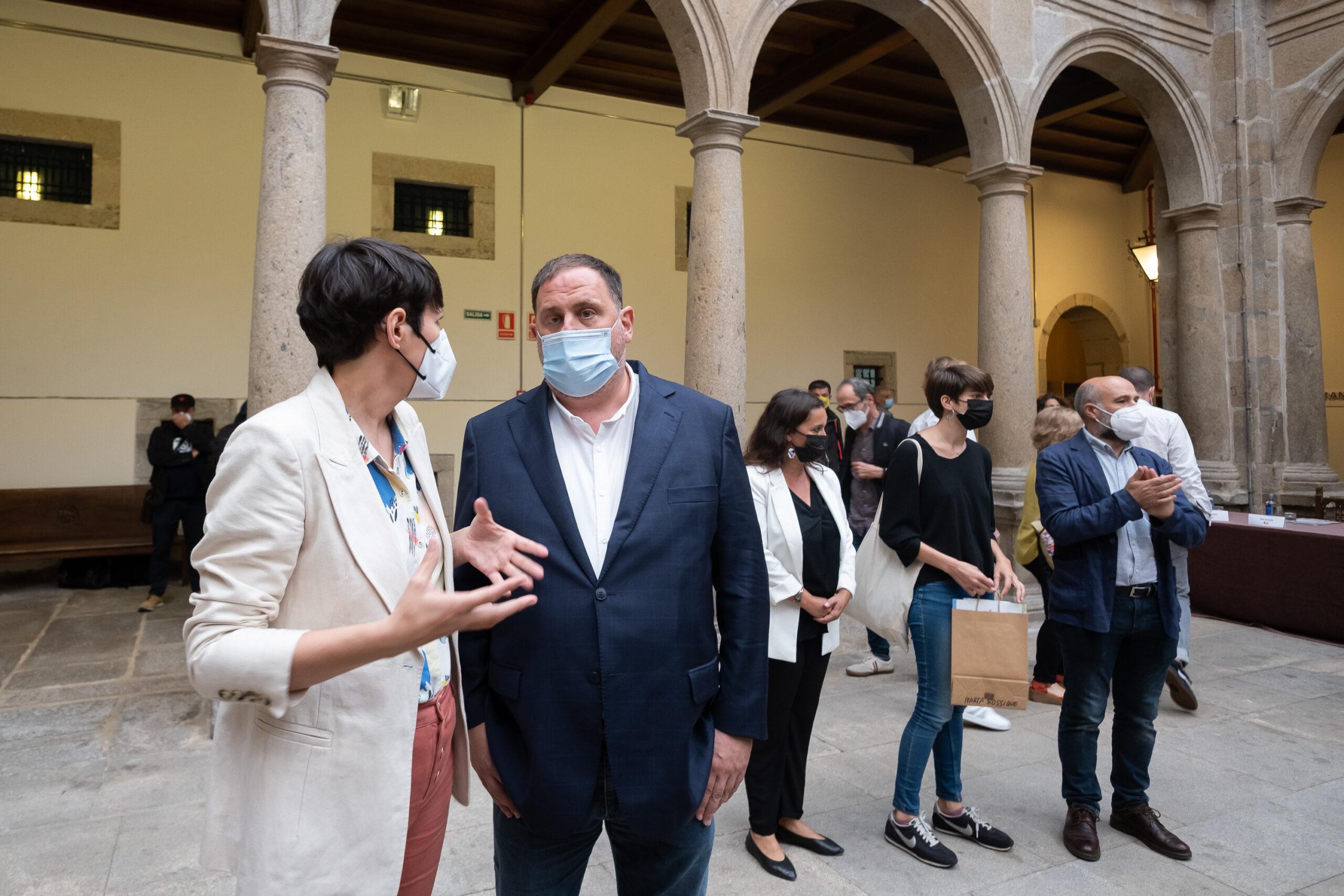 La portaveu nacional del Bloc Nacionalista Galego (BNG), Ana Pontón; el president d'ERC, Oriol Junqueras; la diputada d'ERC Marta Rosique el diputat del BNG en el Congrés Néstor Rego / EUROPA PRESS