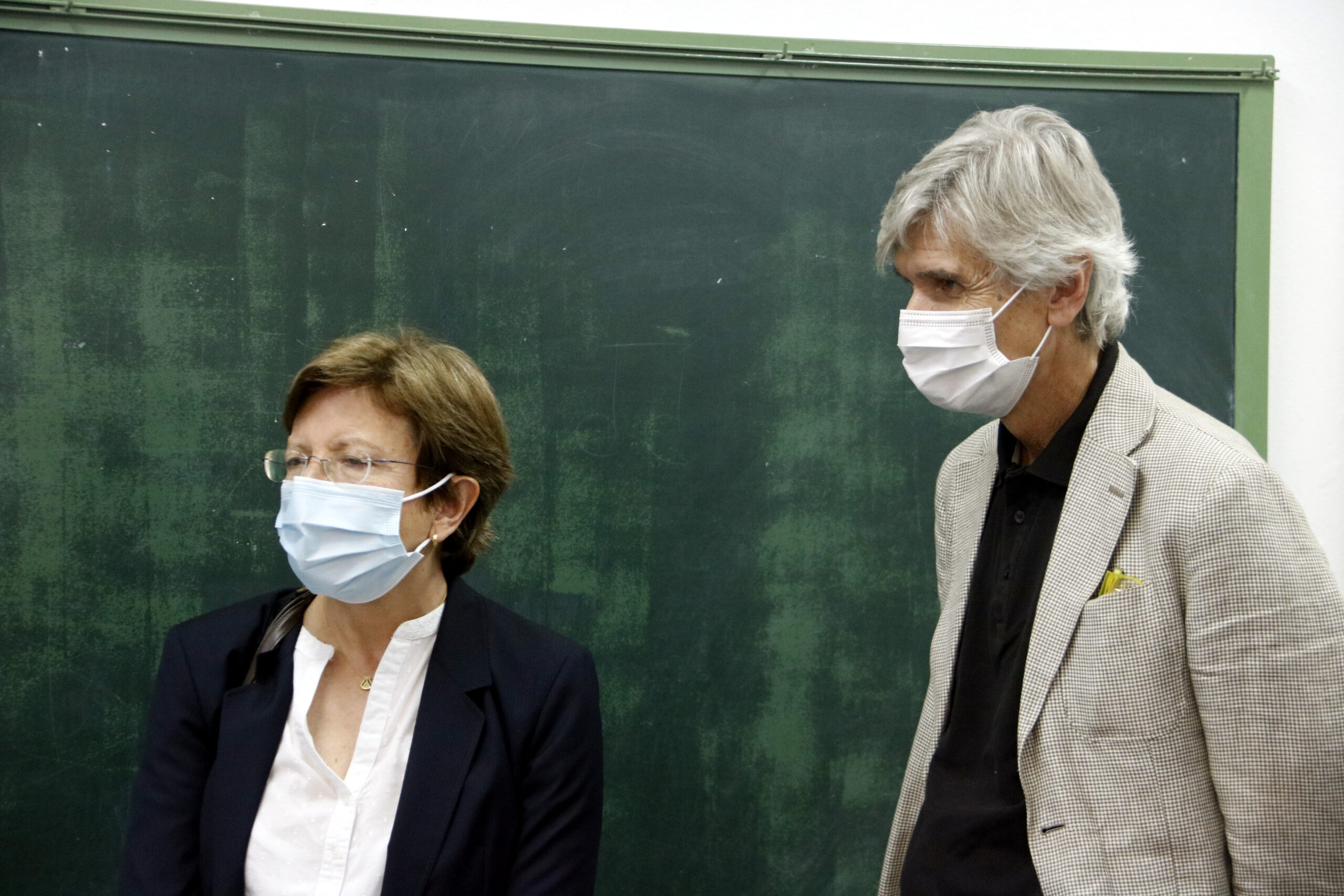 Carmen Cabezas i Josep Maria Argimon, en una imatge d'arxiu | ACN