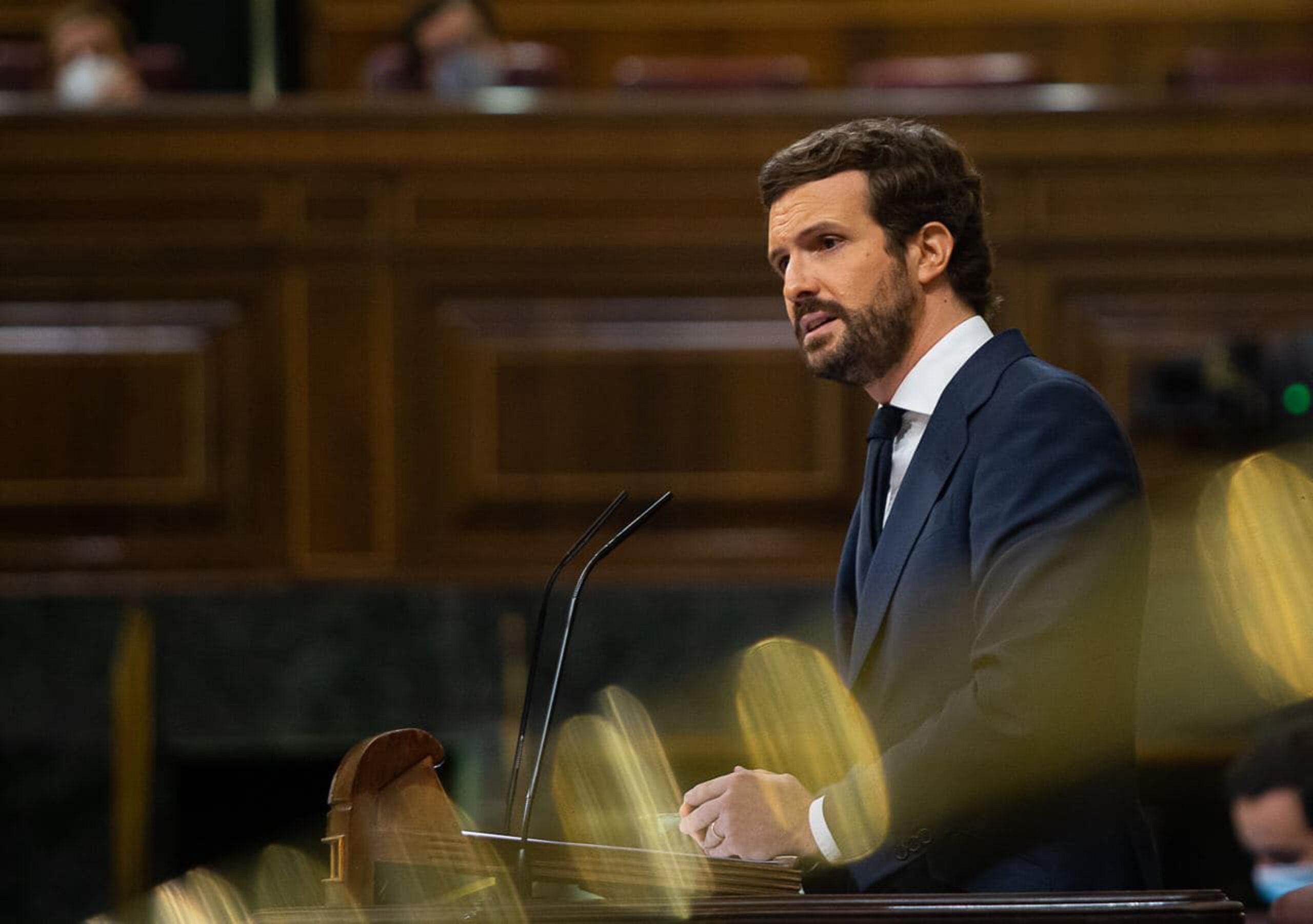 El líder del PP, Pablo Casado al Congrés / ACN