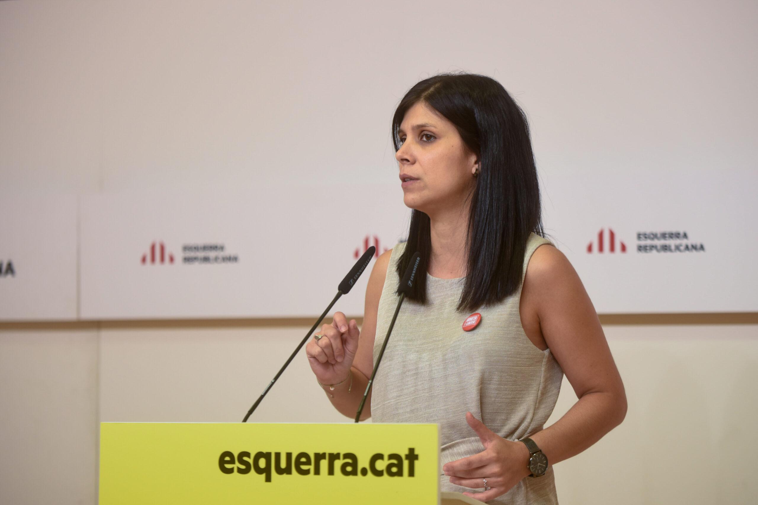 La portaveu d'ERC, Marta Vilalta, en roda de premsa el 19 de juliol de 2021 / ACN