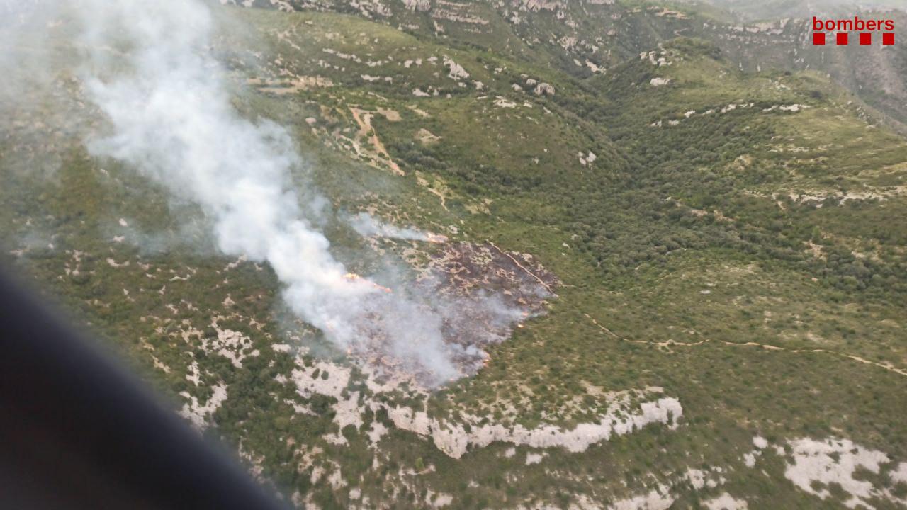 Zona on s'ha declarat l'incendi / Bombers