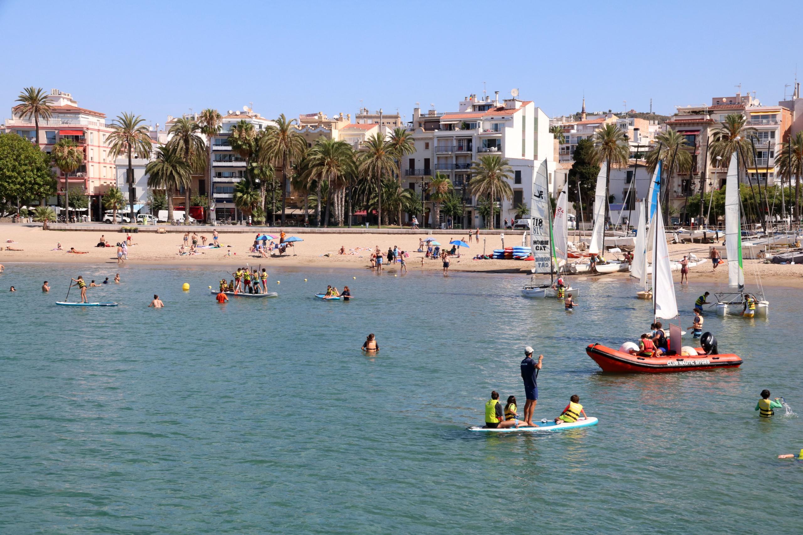 La platja de la Fragata de Sitges   ACN
