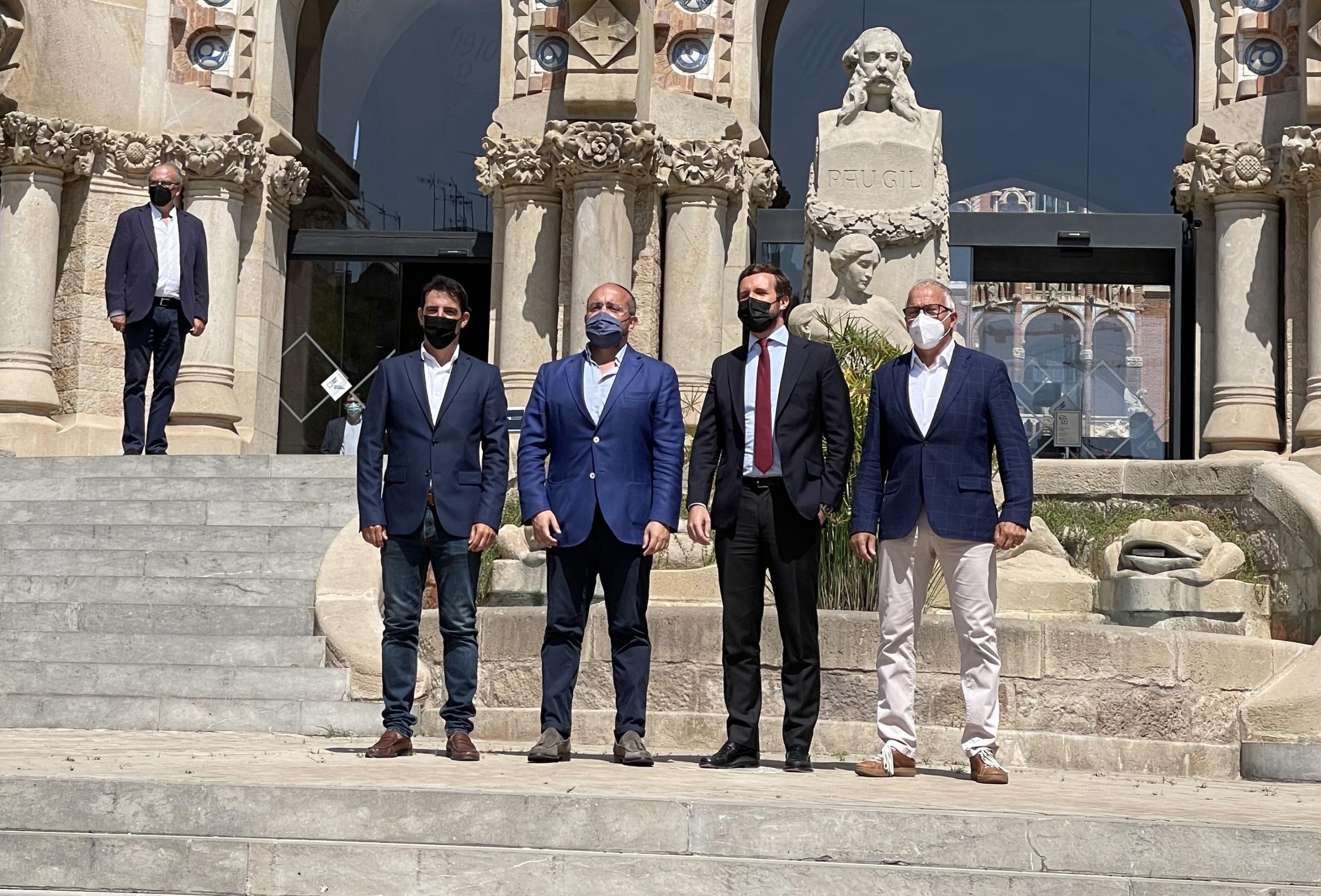Manuel Reyes, alejandro Fernández, Pablo Casado i Josep Bou, al recinte de Sant pau/QS