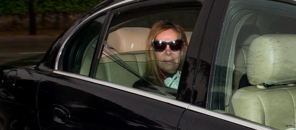 Ana Obregón, captada a dins d'un cotxe - Europa Press