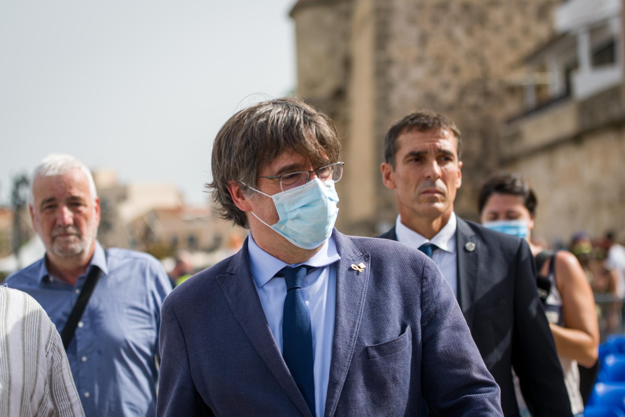 Carles Puigdemont, passejant per l'Alguer | Europa Press