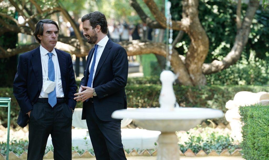 José María Aznar dona suport a Pablo Casado / Europa Press