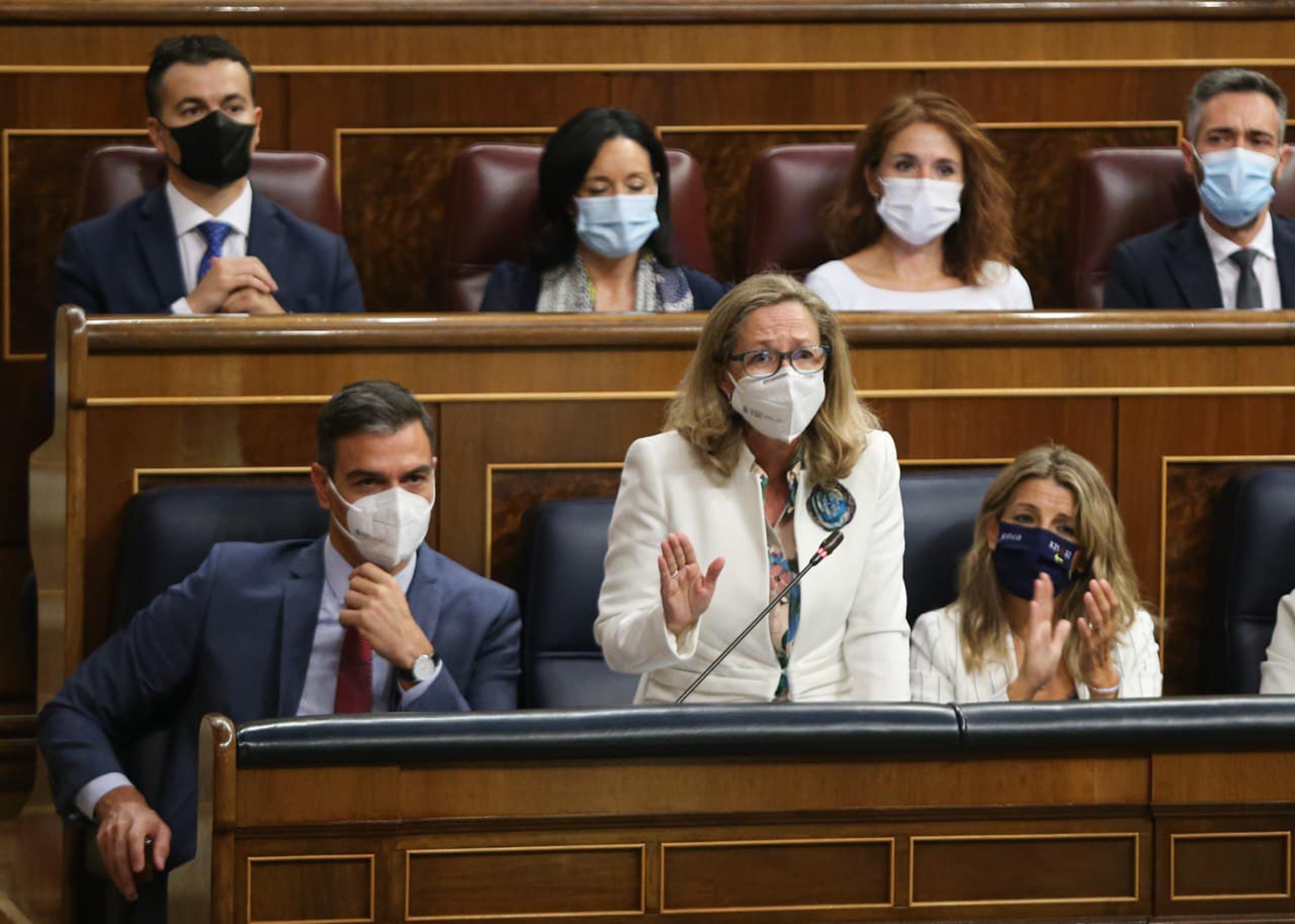 La vicepresidenta primera del govern espanyol, Nadia Calviño, al Congrés dels Diputats | ACN