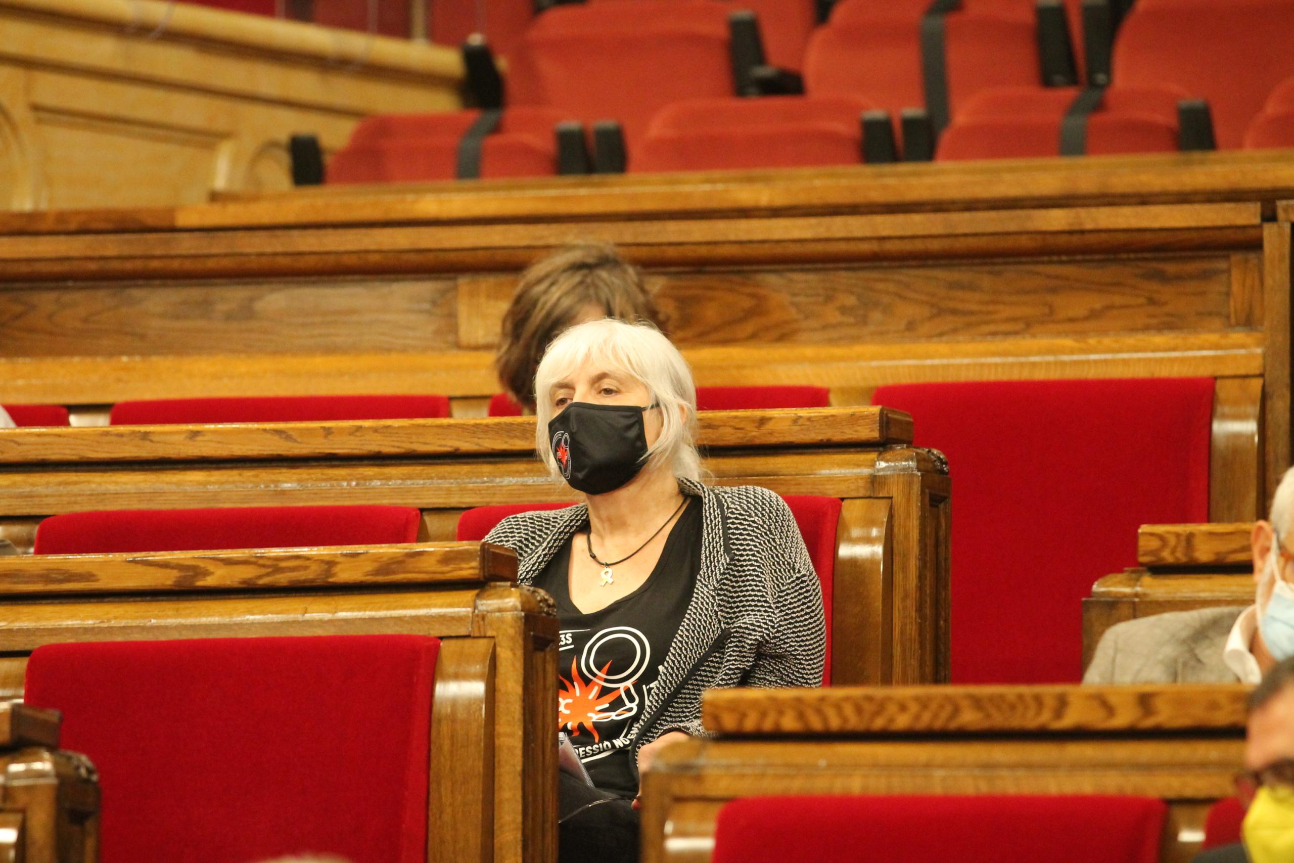Dolors Sabater, aquesta tarda al Parlament/Job Vermeulen