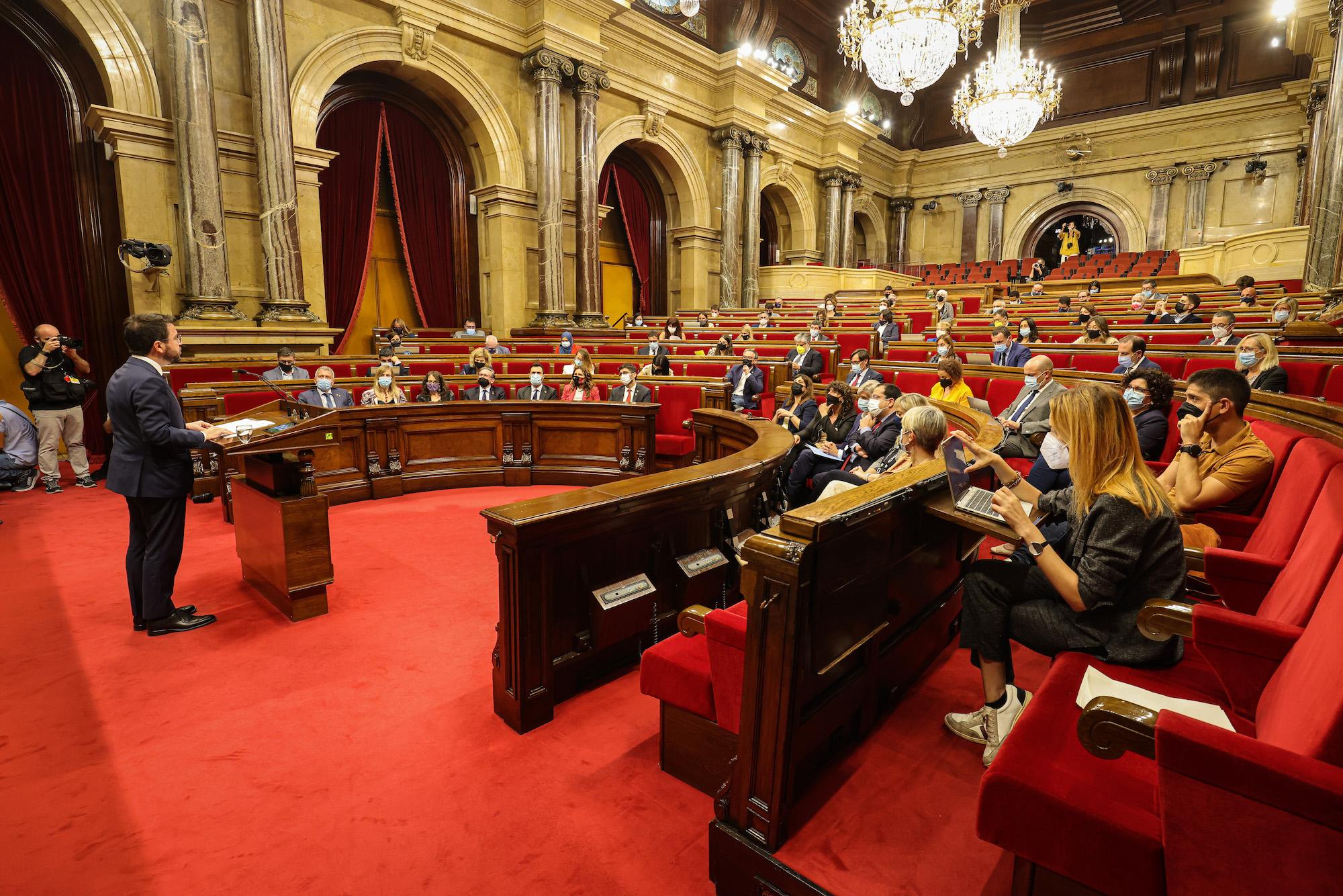Pere Aragonès durant el seu primer debat de política general / Jordi Borràs