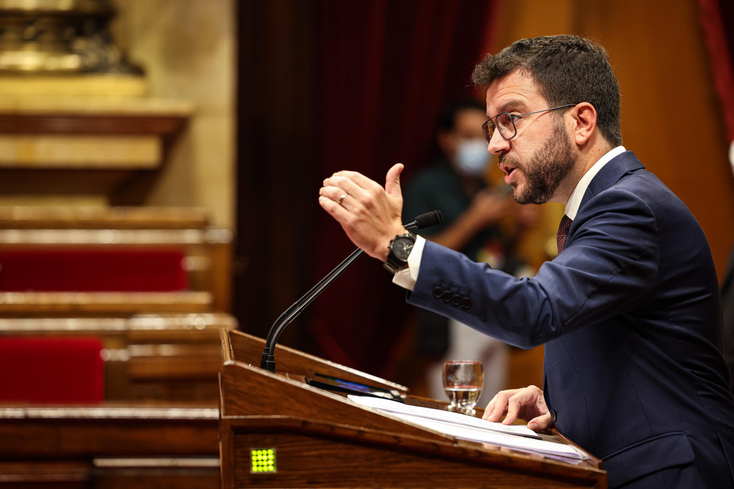 Pere Aragonès durant el debat de política general / Jordi Borràs