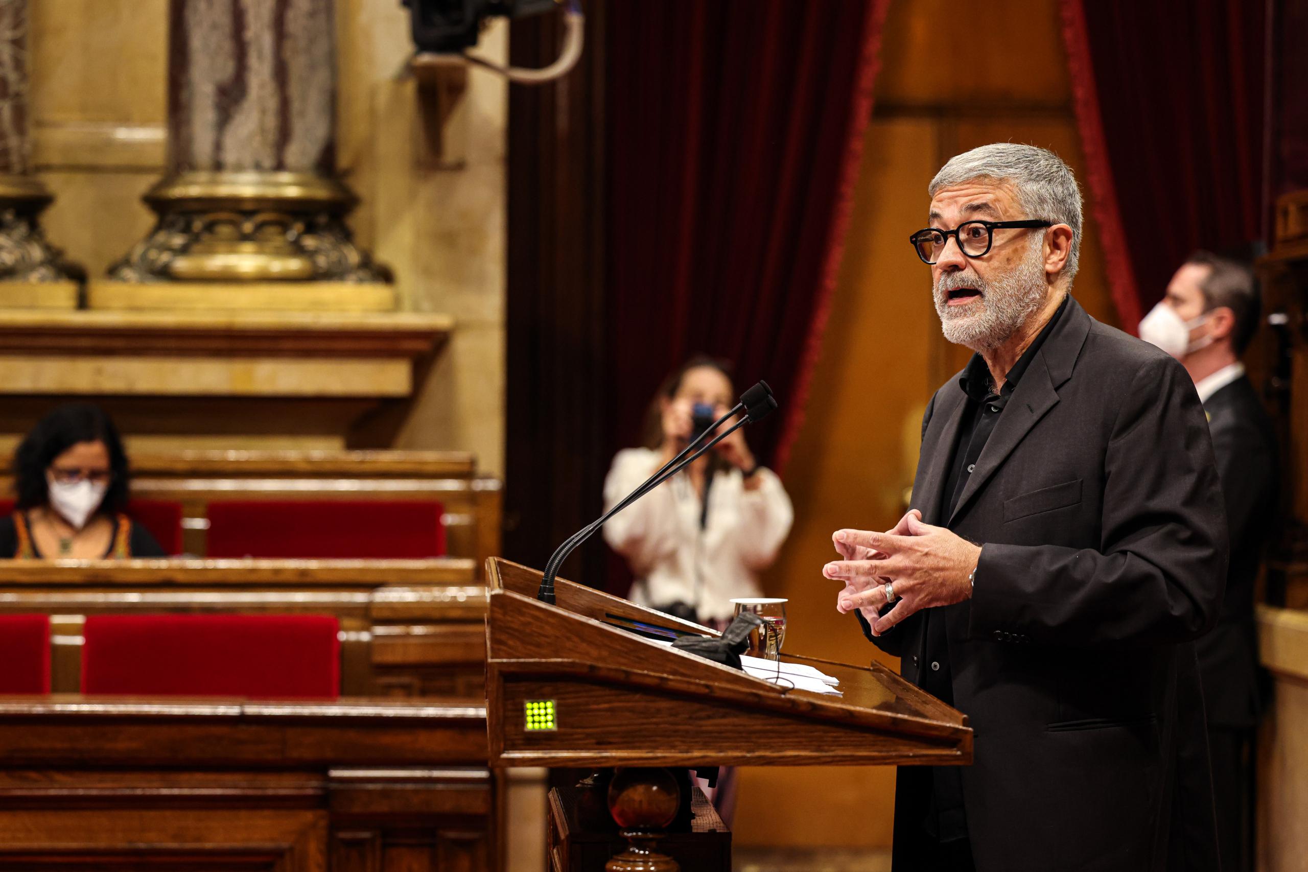 El diputat de la CUP, Carles Riera, al debat de política general / Jordi Borràs