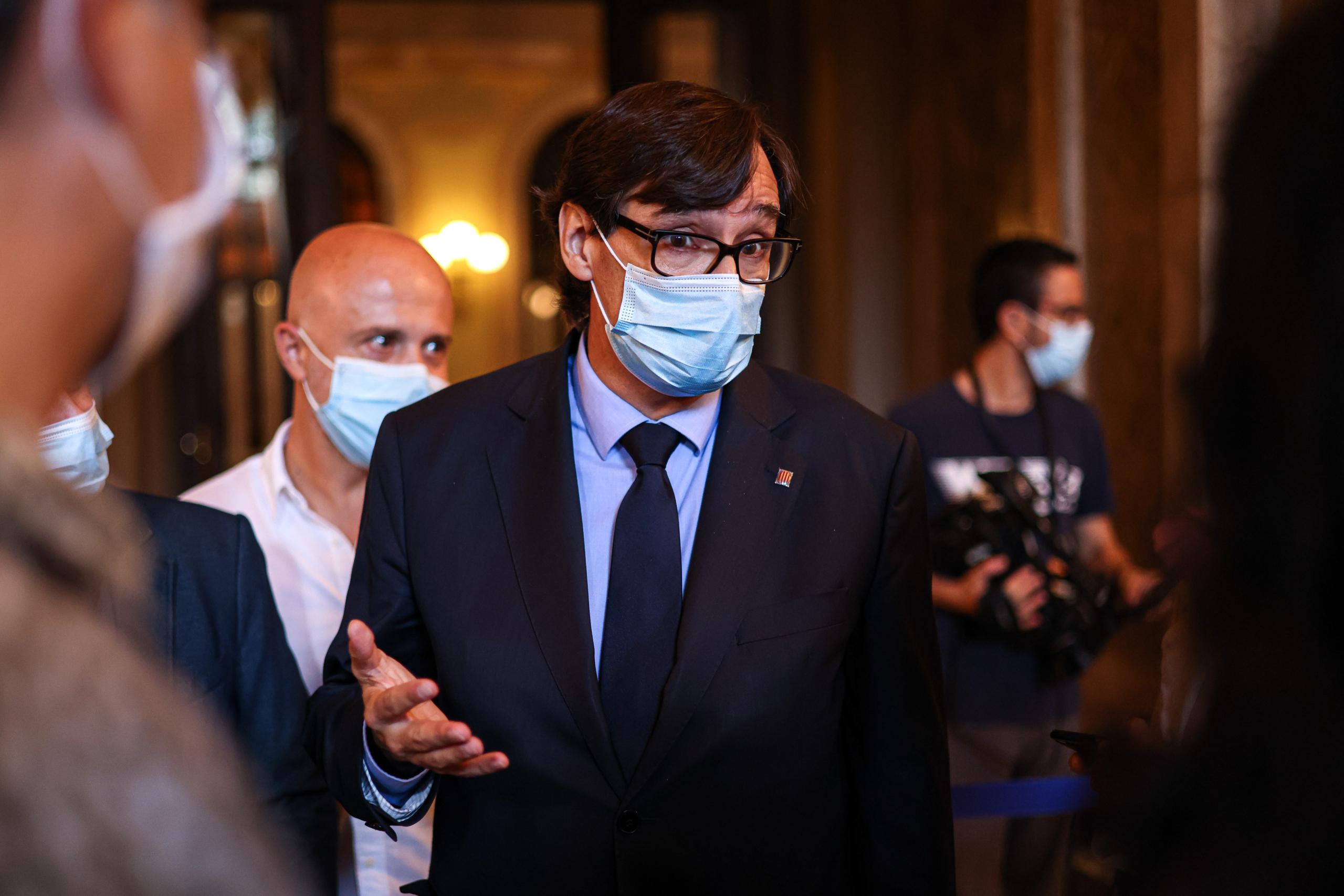El cap de l'oposició, Salvador Illa, fa declaracions al Parlament / Jordi Borràs
