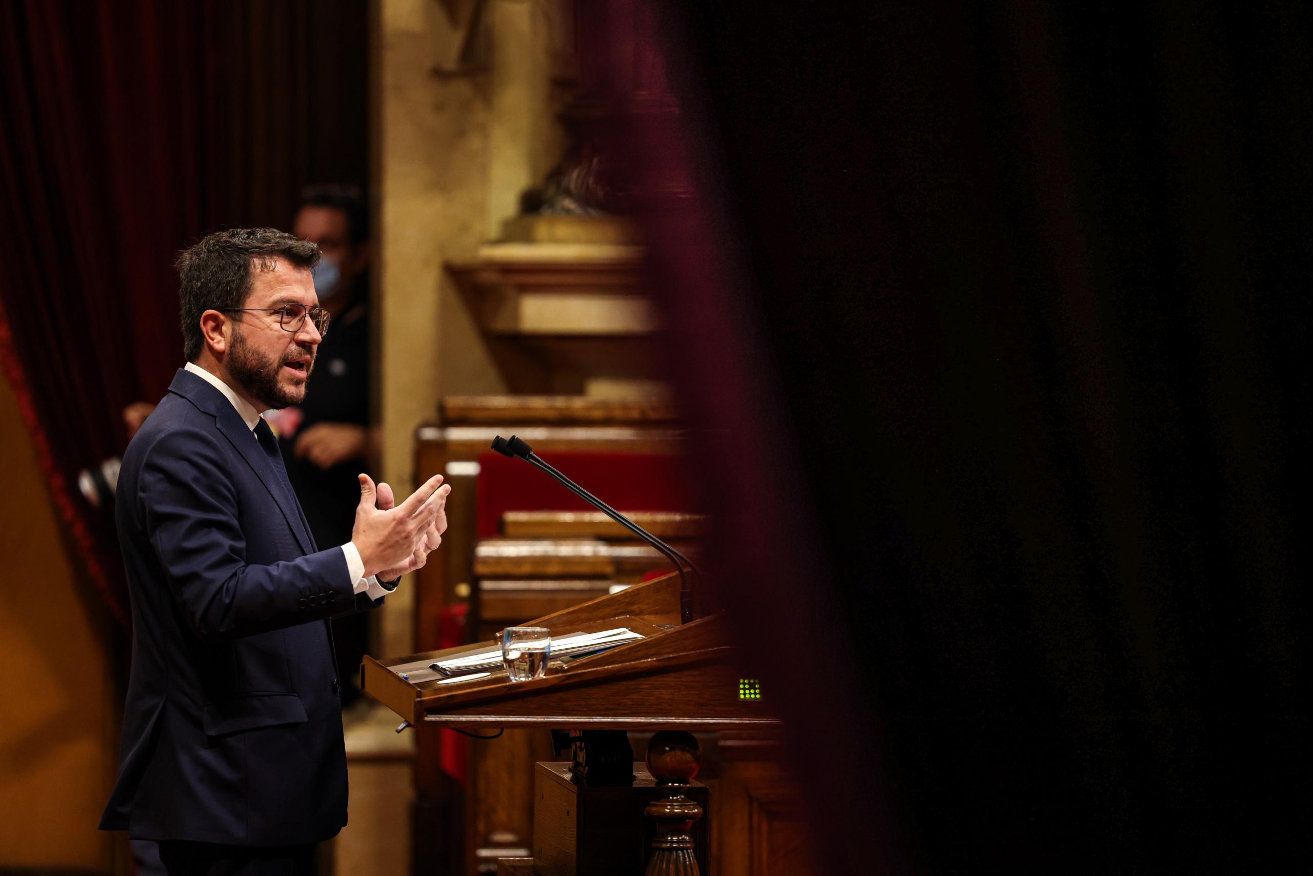 El president Aragonès replica les intervencions dels grups parlamentaris / Jordi Borràs