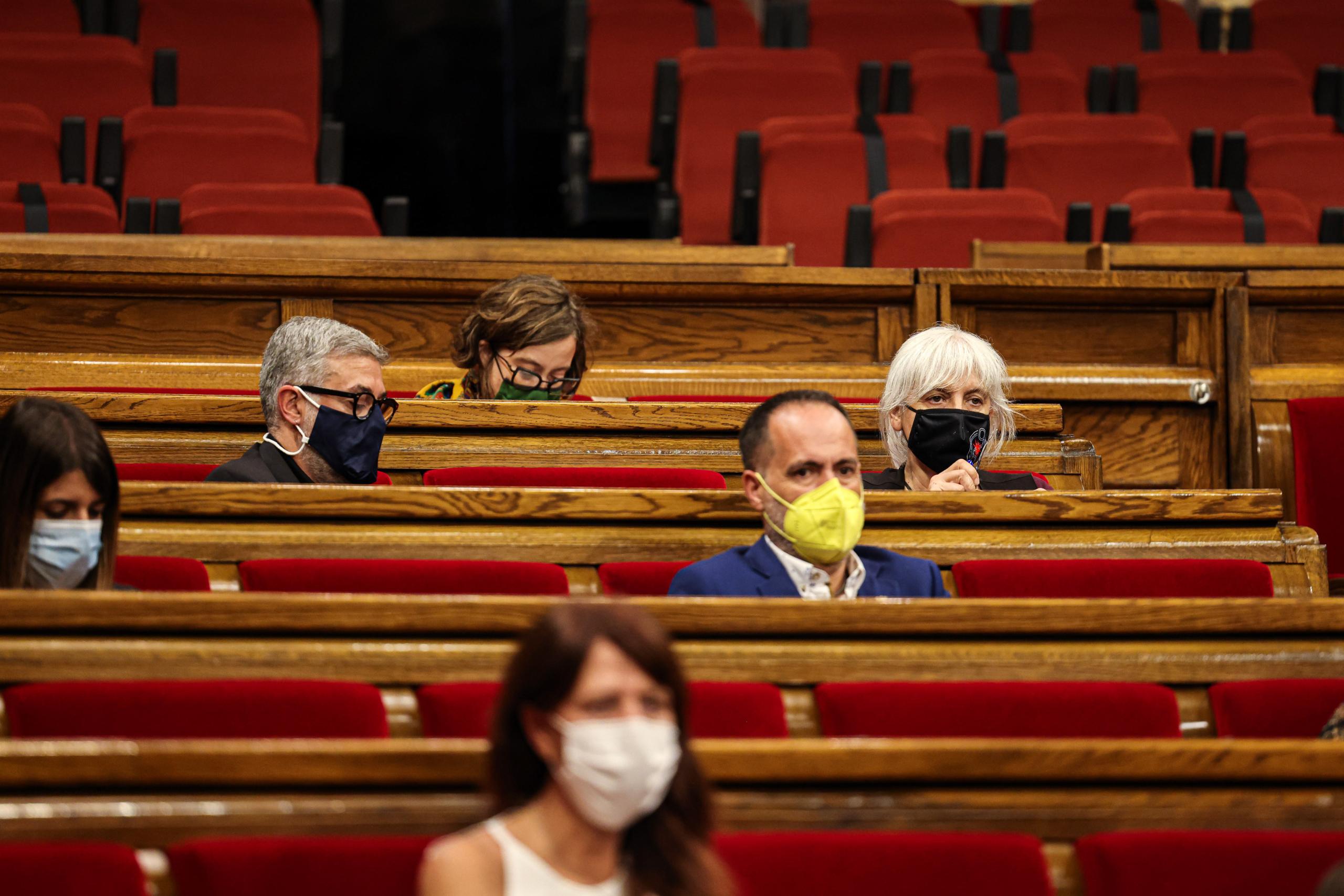 El grup parlamentari de la CUP a l'hemicicle / Jordi Borràs