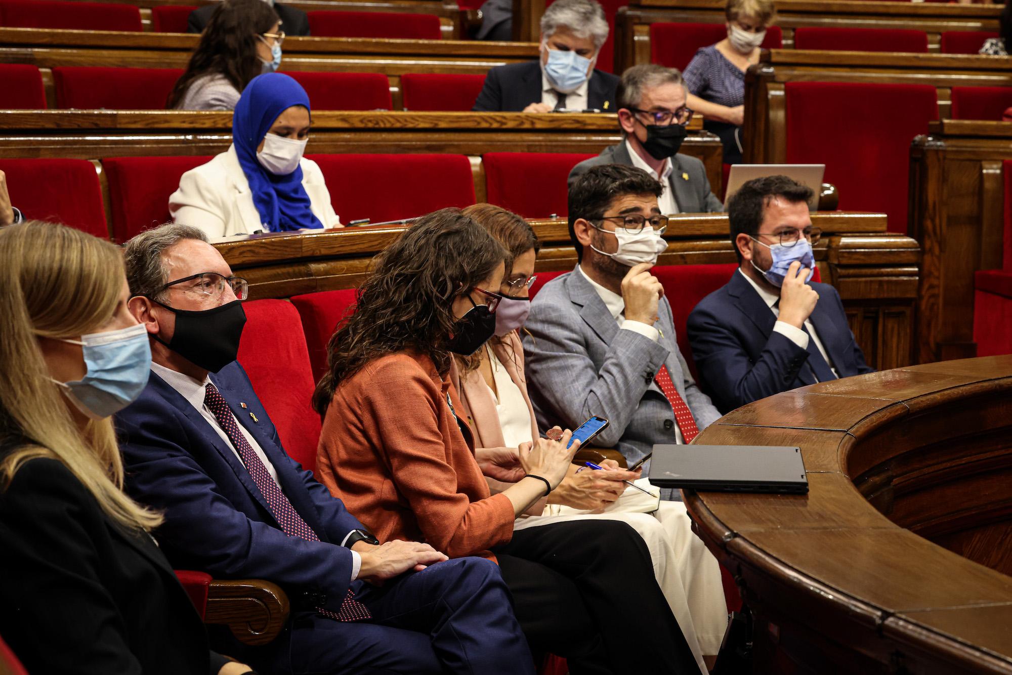 El Govern durant el debat de política general / Jordi Borràs