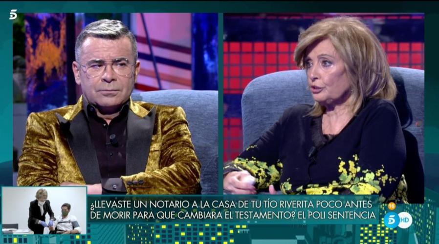 Jorge Javier i María Teresa Campos coincideixen en un plató - Telecinco