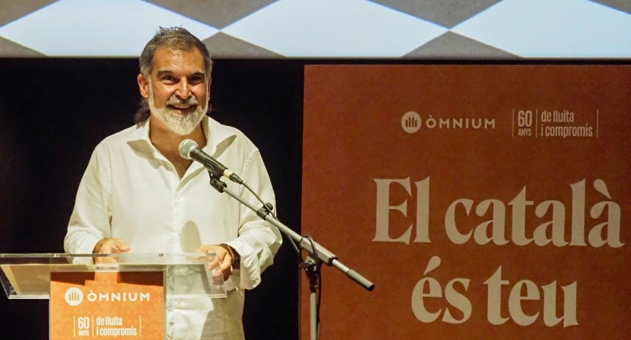 El president d'Òmnium Cultural, Jordi Cuixart, en la presentació de la campanya 'El català és teu' / Òmnium Cultural
